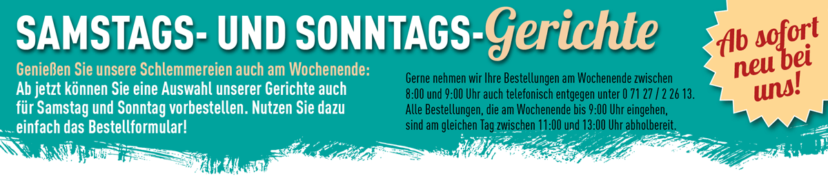 Schlemmereck-Banner